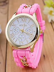 Mulheres Relógio Esportivo Relógio Elegante Relógio de Moda Relógio de Pulso Chinês Quartzo Silicone Banda Pendente Casual CriativoCores