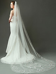 Wedding Veil Two-tier Elbow Veils / Chapel Veils Cut Edge