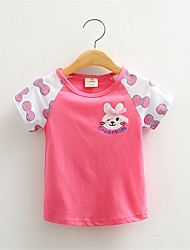 New Summer 2016 Baby Girls Cotton Short Sleeve Rabbit Cartoon Print Brand Tees Spring Kids Cute T-shirt
