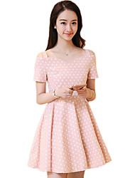 2016 Summer New Women's Fashion Polka Dot Dress