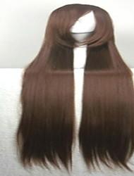 популярный косплей парик парик партии коричневый мультфильм парик 40 дюймов супер длинные прямые анимированные парики из синтетических