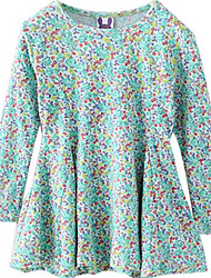 Girl's Dress,Cotton Winter Green