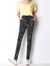 Women's Print Black Harem Pants,Plus Size / Casual / Day