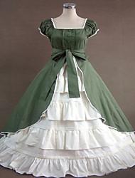 One-Piece/Dress Gothic Lolita / Sweet Lolita / Classic/Traditional Lolita Steampunk® Cosplay Lolita Dress Blue Solid SleevelessLong