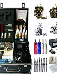 Basekey Tattoo Kit K194 4s Machine With Power Supply Grips Cleaning Brush Needles Ink