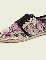 Zapatos de Hombre-Sneakers a la Moda-Deporte-Tela-Morado / Naranja