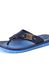 Men's Slippers & Flip-Flops Comfort Light Soles Leather Outdoor Casual Flat Heel Water Shoes