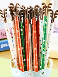 Christmas Antlers Black Ink Gel Pen(1PCS Random Color)