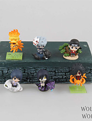 Naruto Hokage  Anime Action Figures Model Toys Doll Toy 6pcs 6cm