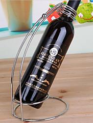 vin rouge stand de support porte-bouteilles, fer avec revêtement d'argent, inoxydable