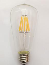 1 pezzo kwb E26/E27 9W / 10W 10 COB 850 lm Bianco caldo ST64 edison Vintage Lampadine LED a incandescenza AC 220-240 V