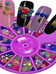 1pcs New Purple Round Bowl Mixed Three-dimensional Shape  Colorful Nail Art Flat Jewelry Nail Art Decoration HC1