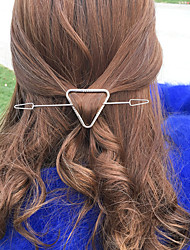 Women Unique Design Simple Vintage Style Fashion Triangle Alloy Hair Stick Hair Accessories