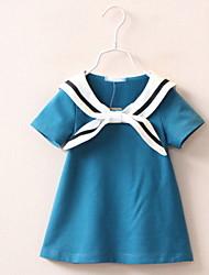 BK  Girl's Navy T-shirt Cotton Summer Tee