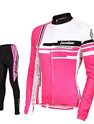 TASDAN® Cycling Jersey with Tights Women's Long Sleeve Breathable / Quick Dry / Reflective Strips / Back Pocket / Sweat-wicking / 3D Pad