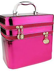 Women PU Professioanl Use Cosmetic Bag Pink / Purple / Blue / Green / Gold / Red / Black