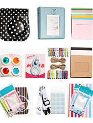 Fujifilm Instax Mini 8 Instant Polaroid Camera Accessory Kit Gift (Leather Polka Dot Protective Case Sticker Album)