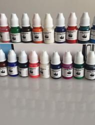 un conjunto de 40 colores del kit del pigmento del tatuaje 8 ml de tinta / botella profesional del tatuaje