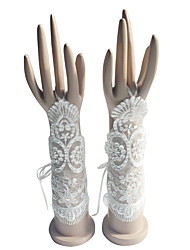 Elbow Length Fingerless Glove Cotton Bridal Gloves / Party/ Evening Gloves Spring / Summer / Fall / Winter Beading