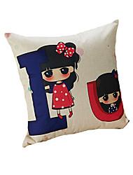 Design Print IU Girl Decorative Throw Pillow Case Cushion Cover 17inchx17inch for Sofa Home Decor Polyester Material