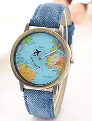 Mulheres Relógio de Moda Relógio Casual Quartzo Tecido Banda Preta Branco Azul Vermelho # 1 # 2 # 3 # 4