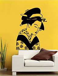 4080 Ancient Japanese Women Removable Wall Sticker Home Decal  Decor Wallpaper Girls Bedroom Decorative