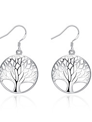 Drop Earrings Euramerican Silver Plated Tree of Life Jewelry For Daily 1 pair
