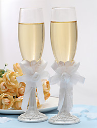 Lead-free Glass Toasting Flutes 1 pair Non-personalised Gift Box