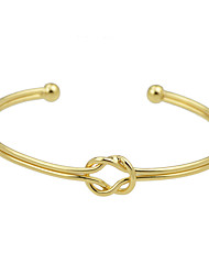 Gold Plated Alloy Adjustable Cuff Bracelet