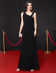 Formal Evening Dress Sheath/Column V-neck Ankle-length Jersey