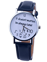 Vintage Watch It Doesn't Matter i'm Always Late Leather Watch Womens Watch Ladies Watch Mens Watch Unisex Watch Cool Watches Unique Watches