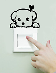 Wall Stickers Wall Decals Style Love Puppy Switch PVC Wall Stickers
