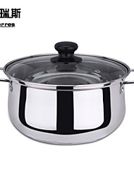 The  Stainless Steel Single Bottom Soup Pot  And  Milk Pan 18cm
