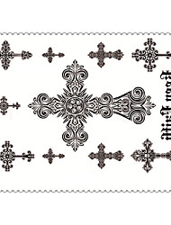 5PCS Fashion Keep Faith Body Art Waterproof Temporary Tattoos Sexy Tattoo Stickers (Size: 3.74'' by 5.71'')