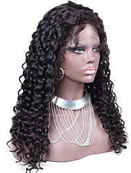 perruque frisée vierge avant de dentelle de cheveux perruque frisée péruvien non transformés sans colle avant de dentelle perruque de