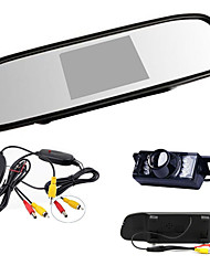 "4.3"" HD TFT LCD Rearview Mirror Monitor +Car Reverse Night vision wireles Camera"