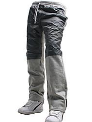 Pantalon de Sport Pour des hommes Couleur Pleine / Mosaïque Décontracté / Sport Coton / Polyester Noir / Gris