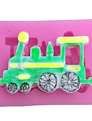 Train Shaped Silicone Fondant Cake Cake Chocolate Silicone Molds,Decoration Tools Bakeware