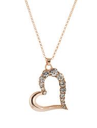 Женский Ожерелья с подвесками Кулоны Кристалл В форме сердца Стразы Австрийские кристаллы Сплав Любовь бижутерия Бижутерия Назначение