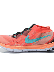 Nike Free 3.0 Flykint Women's Running Shoes Athletic Shoes Fashion Sneakers Light Blue / Burgundy
