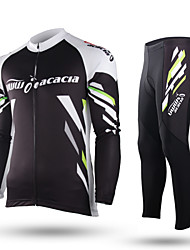 ACACIA® Cycling Jersey with Tights Unisex Long Sleeve BikeBreathable / Quick Dry / Moisture Permeability / Front Zipper / High