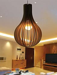 12W Lámparas Colgantes ,  Cosecha Otros Característica for LED Madera/BambúSala de estar / Dormitorio / Comedor / Habitación de