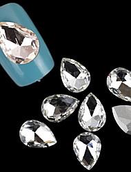 preciosa de acrílico 10 * 14mm joyería de caída de uñas (10 piezas)