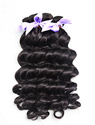 3pcs/Lot 7A Unprocessed Brazilian Virgin Hair Loose Wave Human Hair Extensions Natural Black Hair Weaves Bundles