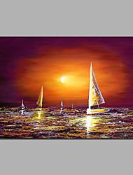 восход солнца картины размер лодки 16 * 24 дюймов и 24 * 36 дюймов могут быть выбранные