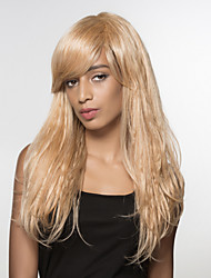 Natural  Long Wavy Remy Human Hair Hand Tied -Top  Wig