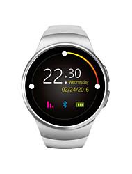 Hw18 smartwatch mtk2502c 1.3 polegadas tela redonda ips lcd 240x240 bluetooth 4.0 anti-perdeu monitor de freqüência cardíaca alerta