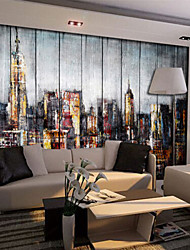 Shinny Leather Effect Large Mural Wallpaper Abstract City Landscape Art Wall Decor Wall Paper