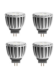 4W G4 Focos LED MR11 4 SMD 2835 300 lm Blanco Cálido Decorativa DC 12 / AC 12 V 4 piezas