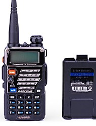 BAOFENG UV-5RB Walkie Talkie 5W/1W 128 136-174MHz / 400-520MHz 1800mAh 1.5 km -3 kmFM Radio / Sprachansage / Dual - Band / Dual - Anzeige